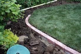 brick border flower bed
