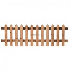 6ft X 2ft Traditional Picket Fence Timber Pointed Tops