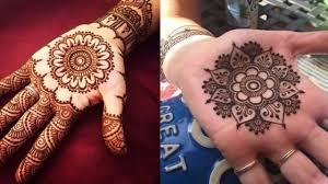 beautiful circle mehndi design
