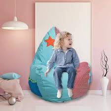 No Dporticus 3 Feet Kids Bean Bag Chair Cartoon Lazy Sofa For Kids Children Cozy Chair Birthday Gifts For Boys And Girls Star Pa