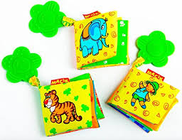 baby activity book and teething toys