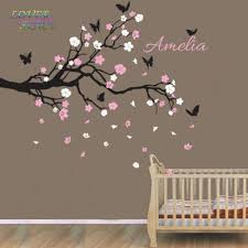 On Sale Custom Personalised Name Birds Butterfly Branch Wall Sticker Decal Nursery Decor Wall Stickers For Kids Rooms 135x70cm Sticker For Kids Room Branch Wall Stickerswall Stickers For Kids Aliexpress