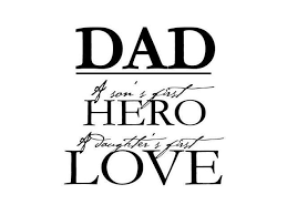 Dad A Son S First Hero A Daughter S First Love Vinyl Decal Small Dark Blue Newegg Com