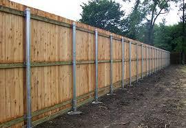 Wood Fence Wood Fence On Metal Posts