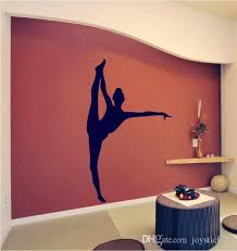 Gymnastics Girl Wall Mural Removable Home Background Decoration Living Room Vinyl Black Silhouette Wall Decals For Gym Sticker Wall Art Quotes Sticker Wall Decal From Joystickers 11 67 Dhgate Com