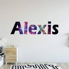 Vwaq Galaxy Name Wall Decal With Personalized Name Horizontal Letters
