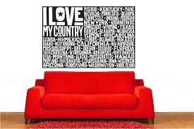 Wrought Studio Espinoza Usa Flag I Love My Country Vinyl Words Wall Decal Wayfair