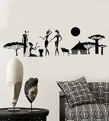 Vinyl Wall Decal Abstract Natives African Tribe Ethnic Style Stickers 2380ig Ebay