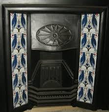 arts crafts style voysey fireplace