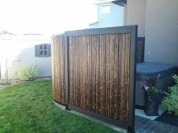 Hot Tub Privacy Screen Made Of Bamboo Hot Tub Outdoor Hot Tub Garden Hot Tub Backyard