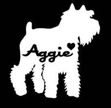 Miniature Schnauzer Car Decal Miniature Schnauzer Decal Dog Etsy