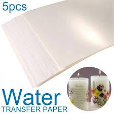 5pcs A4 Size Water Slide Decal Paper Inkjet Waterslide Transfer Paper Clear White Wish