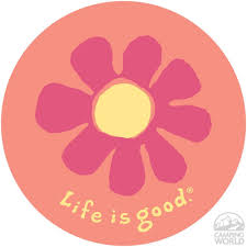 Life Is Good Sticker Flower Life Is Good 25619 Stickers Life Is Good Life Square Painting
