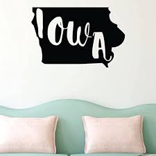 Amazon Com Iowa State Wall Decal Silhouette Vinyl Art For Home Decor Living Room Or Family Room Decoration Handmade