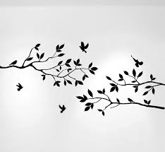 Tree Branches Wall Decal With Birds Vinyl Sticker Nursery Leaves 40 Wide X 18 High 1234 Innovativestencils