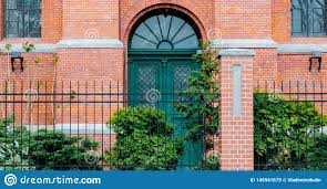 Door With Arch In Old Brick Building Of Victorian Era Stock Image Image Of Real Building 145941679