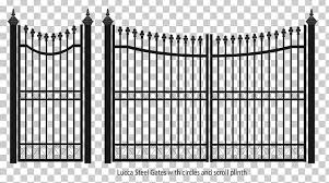 Fence Gate Wrought Iron Steel Png Clipart Angle Area Black And White Chainlink Fencing Driveway Free