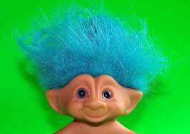 blue haired troll toy troll doll