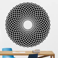 Geometry Pattern Wall Decal Visual Effect Geometric Optical Illusion Vinyl Wall Stickers Home Decoration School Classroom Z493 Wall Stickers Aliexpress