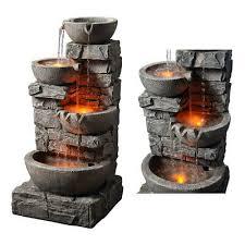 stacked 4 tier bowls indoor waterfall
