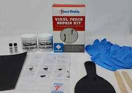 Vinyl Fence Repair Kit Fixes White Vinyl Fence Panels Or Posts Fence Daddy