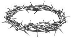 Black And White Crown Of Thorns Sticker