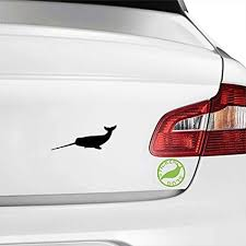 Amazon Com Narwhal Whale Decal Sticker Black 5 Inch For Car Truck Laptop B13985 Automotive