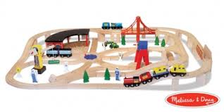 doug 130 piece wooden train set