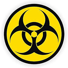 Amazon Com Biohazard Symbol Hard Hat Helmet Sticker Vinyl Decal By Stickerdad 3 Pack Full Color Printed Size 2 Color Yellow Black For Windows Walls Bumpers Laptop Lockers Etc Automotive