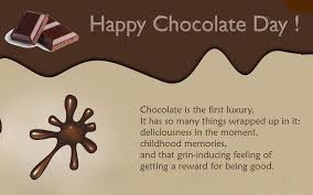 unique chocolate day greeting card message for her him