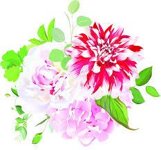 Amazon Com Beautiful Pink Wedding Floral Flower Cartoon Art Vinyl Sticker 12 Tall Dahlia Automotive