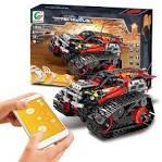13036 DIY Electric Stunt Racing Crawler Building Blocks Red