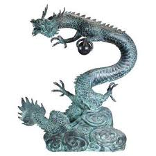 dragon garden statues outdoor decor