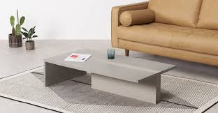 claus coffee table grey concrete and