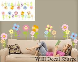 Childrens Flower Wall Decal Floral Wall Decor Vinyl Floral Wall Decal Flower Wall Decals Floral Wall Decals Wall Vinyl Decor