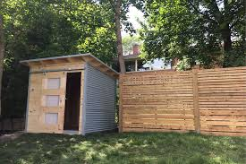 modern shed form backyard escale