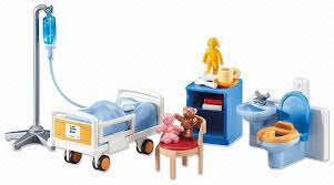 Amazon Com Playmobila Playmobil Add On Series Child Hospital Room Toys Games