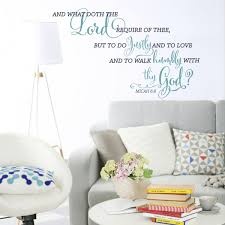 Micah 6 8 Do Justly Walk Humbly Wall Decal Kjv A Great Impression