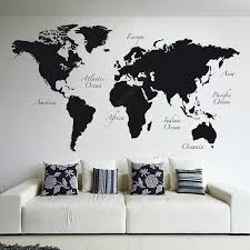 Large World Map Vinyl Wall Decal Home Decor Living Room Removable Abstract World Map Wall Sticker For Bedroom B508 Map Wall Sticker World Map Wall Stickerstickers For Bedroom Aliexpress
