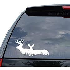 Amazon Com Deer Family Buck Hunting Decal Sticker Car Truck Motorcycle Window Ipad Laptop Wall Decor Size 07 Inch 18 Cm Wide Color Gloss White Home Kitchen