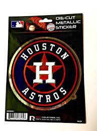 Houston Astros Window Decal 5 25 X 6 25 Die Cut Metallic Sticker Truc My Team Depot