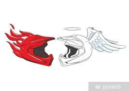 Devil And Angel Helmet Motocross Sticker Pixers We Live To Change