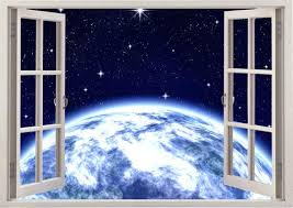 Whole World Wall Sticker 3d Window Space Wall Decal For Home Etsy