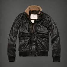 abercrombie fitch leather er jacket