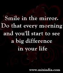 smile is a mirror instagram quote mix