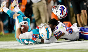 Bills S Aaron Williams leaves game after vicious hit by Jarvis Landry