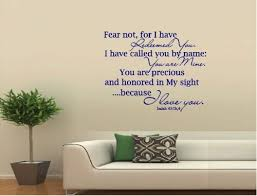 Isaiah 43 Bible Quote Verse Vinyl Wall Decal Fear Not For I Have Redeemed You