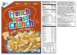 cinnamon toast crunch nutrition label