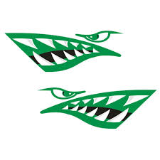 Buy Fenteer 2 Pieces Vinyl Large Cartoon Shark Teeth Mouth Decals Stickers Graphics For Kayak Canoe Fishing Boat Rowboat Dinghy Jet Ski Airplane Car Truck Van Motorcycle Various Color In Cheap