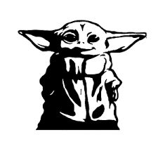 Baby Yoda Star Wars The Mandalorian Vinyl Decal Window Sticker 4 5 X 5 5 Ebay